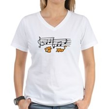 Orange Kitty Notes Shirt