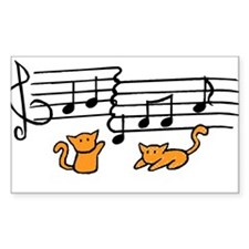 Orange Kitty Notes Decal