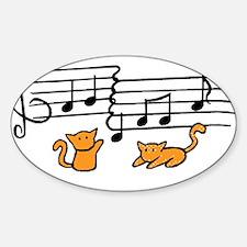 Orange Kitty Notes Decal