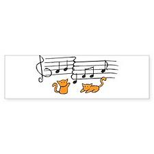 Orange Kitty Notes Bumper Sticker
