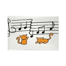 Orange Kitty Notes Rectangle Magnet