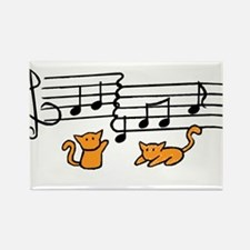 Orange Kitty Notes Rectangle Magnet