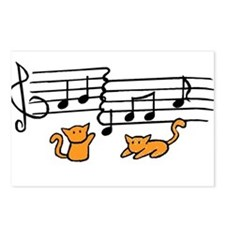 Orange Kitty Notes Postcards (Package of 8)