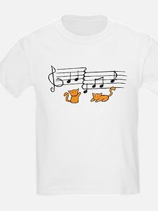 Orange Kitty Notes T-Shirt