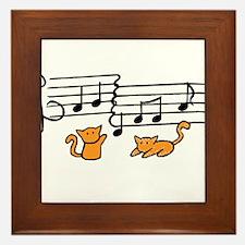 Orange Kitty Notes Framed Tile