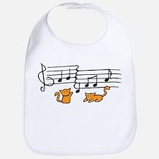 Orange Kitty Notes Bib
