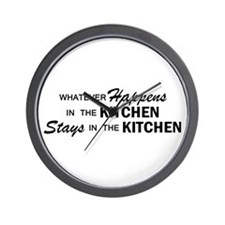 Whatever Happens - Kitchen Wall Clock