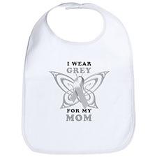 I Wear Grey for my Mom Bib
