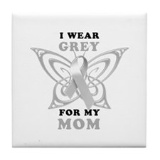 I Wear Grey for my Mom Tile Coaster