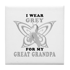 I Wear Grey for my Great Grandpa Tile Coaster