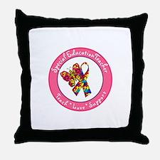 Cute Autism teacher Throw Pillow