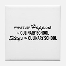 Whatever Happens - Culinary School Tile Coaster