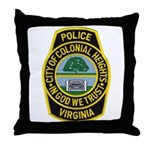 Colonial Heights Police Throw Pillow