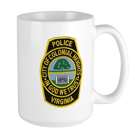 Colonial Heights Police Large Mug
