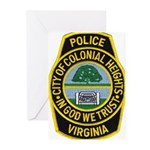 Colonial Heights Police Greeting Cards (Pk of 10)