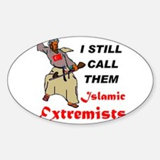 CALL THEM WHAT THEY ARE Sticker (Oval 50 pk)