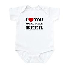 I Love [Heart] You More Than Infant Creeper