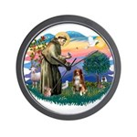 St Francis #2/ Aus Shep (red) Wall Clock