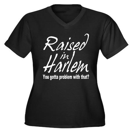 Harlem, new york Women's Plus Size V-Neck Dark T-S