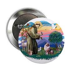 "St Francis #2/ Aus Shep (merle) 2.25"" Button"