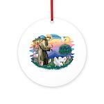 St Francis #2/ Am Eskimo (2) Ornament (Round)