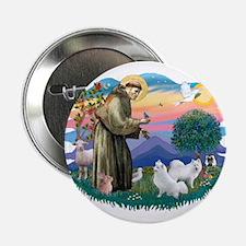 """St Francis #2/ Am Eskimo (2) 2.25"""" Button"""