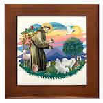 St Francis #2/ Am Eskimo (2) Framed Tile