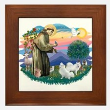 St Francis #2/ Am Eskimo (2) Framed Tile