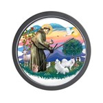 St Francis #2/ Am Eskimo (2) Wall Clock