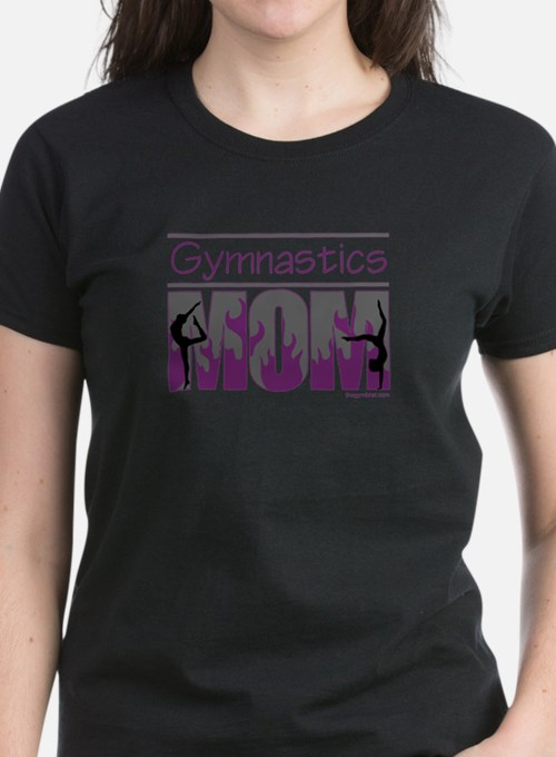 Gymnastics Mom - Purple Flames Tee