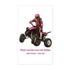 Real Women are not Ladies 4-wheeling Decal