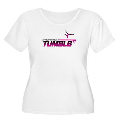 Can You Tumble? Women's Plus Size Scoop Neck T-Shi