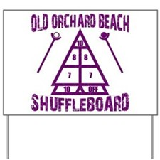 Shuffleboard Yard Sign