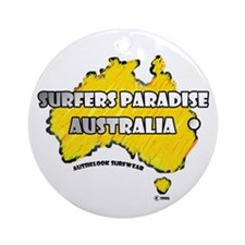 Cool Surfer paradise Ornament (Round)