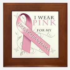 I Wear Pink for my Great Grandma Framed Tile