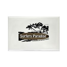 Unique Surfer paradise Rectangle Magnet