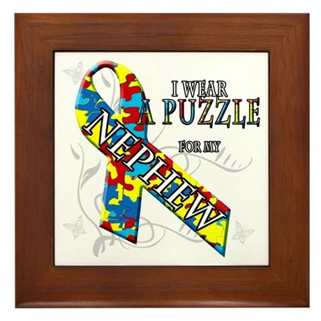 I Wear A Puzzle for my Nephew Framed Tile