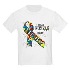 I Wear A Puzzle for my Nephew T-Shirt
