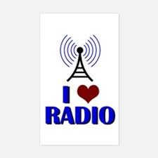 I Love Radio Sticker (Rectangle)