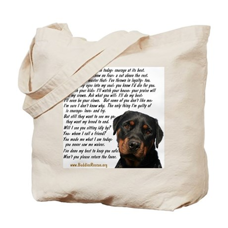 Only Thing, Rottweiler Tote Bag