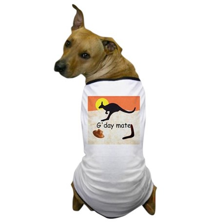 Kangaroo with Aussie saying Dog T-Shirt