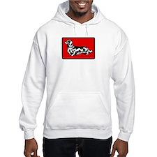 Retro Longhaired Dachshund Hoodie