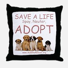 Spay Neuter Adopt - Throw Pillow