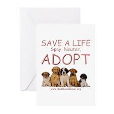 Spay Neuter Adopt - Greeting Cards (Pk of 10)