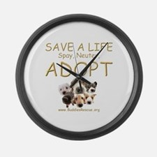 Spay Neuter Adopt - Large Wall Clock