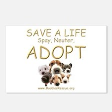 Spay Neuter Adopt - Postcards (Package of 8)