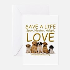 Spay Neuter Adopt - Greeting Cards (Pk of 20)