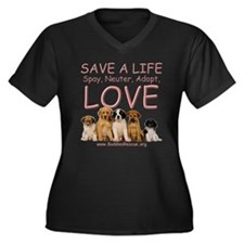 Spay Neuter Adopt - Women's Plus Size V-Neck Dark