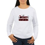 Wesley Crushers Women's Long Sleeve T-Shirt - Be a part of the best bowling team for geeks - The Wesley Crushers! This merchandise will make a bang with your friends. A big one. In theory. - Availble Sizes:Small,Medium,Large,X-Large,2X-Large (+$3.00) - Availble Colors: White
