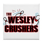 Wesley Crushers Tile Coaster - Be a part of the best bowling team for geeks - The Wesley Crushers! This merchandise will make a bang with your friends. A big one. In theory.
